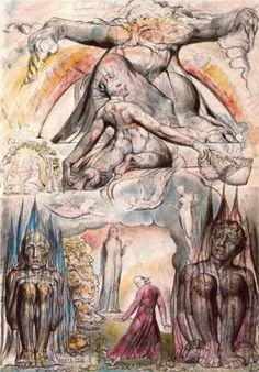 "artist-blake: ""Illustration to Dante's Divine Comedy, Hell, William Blake "" Dante Alighieri, Salvador Dali, William Blake Art, Illustrations, Illustration Art, Harry Clarke, Birmingham Museum, Birmingham Art, La Madone"