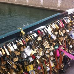 "Lovers write their names on a lock, lock them on the bridge fence, and throw the key in the river so no one can ""unlock"" their love . Thats a pretty cool thing they have going on!"