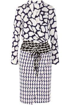 Diane von Furstenberg|Terry printed silk-jersey wrap dress|NET-A-PORTER.COM ...  oh man..want this in my closet nowwwwww!