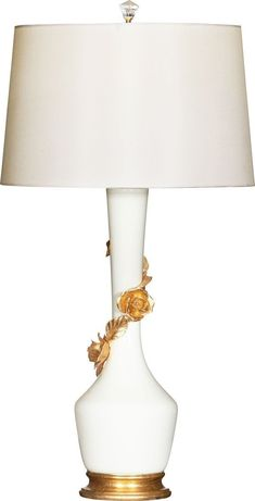 Avril Rose Blanc Table Lamp by BRADBURN GALLERY