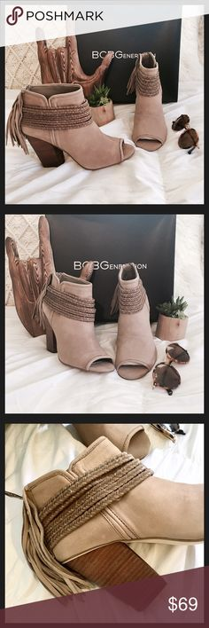 NTW Gorgeous Tan Booties NTW These are Brand New BCBG Suede Tan Booties BCBGeneration Shoes Ankle Boots & Booties