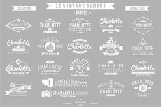 2O Vintage Badges 03 (EDITABLE TEXT) on Behance