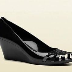 100% authentic Gucci jelly heels Black smooth jelly shoes (picture is not mine but it's the exact same shoes) Gucci Shoes Heels
