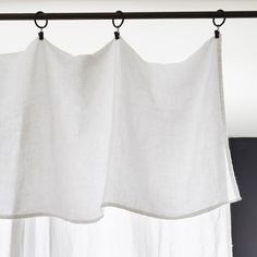 Flat sheet optical white for single bed, Drap plat linen Sheet Curtains, Linen Curtains, Curtains With Blinds, Cafe Curtains, Linen Sheets, Window Dressings, Window Styles, Linens And Lace, White Bedding