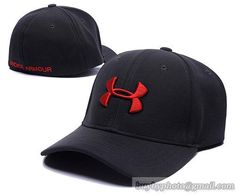 6a8902336c0 Mens   Womens Under Armour UA bold logo Headline Stretch Fit Vented Secure  Colour Adjustable Cap - Black   Red