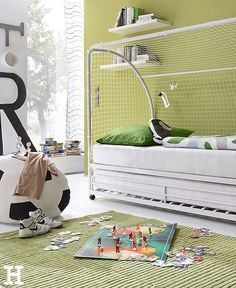 Kinderzimmer für Fußballfans. #kinderzimmer #jungs #motto #fußball #einrichting #idee