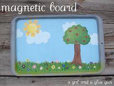 magnetic sheet - A girl and a glue gun