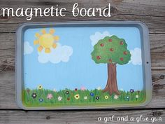 magnetic sheet - A girl and a glue gun