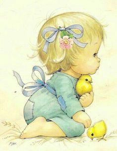 Art Image by Ruth Morehead. Illustration Mignonne, Cute Illustration, Cute Images, Cute Pictures, Art Mignon, Baby Album, Baby Art, Cartoon Kids, Vintage Children