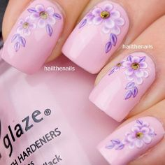 Buy Lilac Daisy Flower Nail Art Water Transfer Decal at Wish - Shopping Made Fun Great Nails, Cool Nail Art, Cute Nails, Daisy Nails, Flower Nails, Nail Designs 2015, Manicure Gel, Finger Nail Art, Sinful Colors