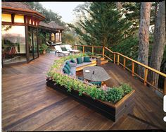 75 inspiring and modern deck design ideas for a relax in the open. outdoor decks design exteriors modern brown wooden deck roof ideas for patio with brown wooden fence as well as deck roof designs and decks design ideas awesome exterior. Outdoor Rooms, Outdoor Gardens, Outdoor Living, Outdoor Couch, Outdoor Patios, Built In Seating, Deck Seating, Outdoor Seating, Deck Benches