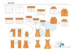 Salitre y papel: Tutorial vestido origami