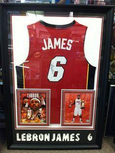 Framed Lebron James, Miami Heat Autographed Jersey http://Pinterest.com/Treypeezy http://OceanviewBLVD.com