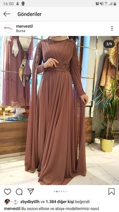 Sleeves Designs For Dresses, Prom Dresses Long With Sleeves, Modest Dresses, Pretty Dresses, Modest Fashion Hijab, Muslim Fashion, Fashion Dresses, Hijab Dress Party, Party Wear Dresses