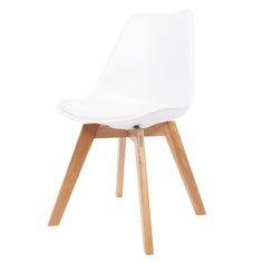 kare stuhl forum wood, weiß - 4 fuß stühle - stühle, Hause deko