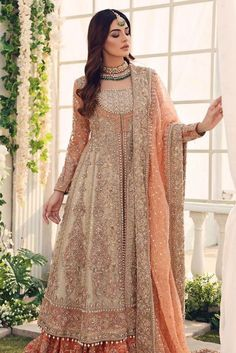 Make your BIG DAY celebrations memorable with Aisha imran exclusive range of bridals wear and wedding dresses. Asian Bridal Dresses, Pakistani Formal Dresses, Indian Gowns Dresses, Pakistani Wedding Outfits, Wedding Dresses For Girls, Bridal Outfits, Pakistani Mehndi Dress, Bride Dresses, Indian Outfits