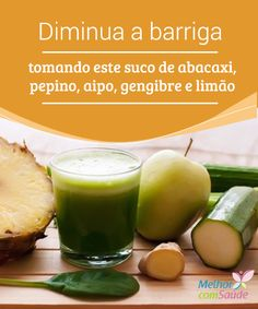 """Diminua a barriga tomando #suco com receita de #abacaxi  A #barriga costuma ser uma área """"problema"""" do corpo para milhões de pessoas em todo o mundo. Conheça um suco capaz de #reduzi-la."""