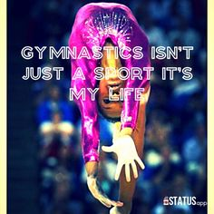 Gymnastics isn't just a sport. It's my life So true I'm a gymnast Don't give up ❤⚓love it