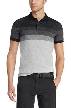 'Paule' | Slim Fit, Cotton Polo Shirt , Black