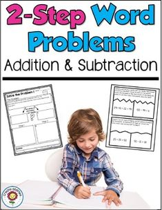 2 Step Word Problems Addition and Subtraction 3rd Grade Classroom, Third Grade Math, Second Grade, Classroom Ideas, Grade 2, Math Story Problems, Word Problems, Teaching Math, Teaching Ideas