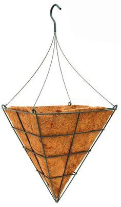 """14"""" Square Cone Shaped Grower Hanging Basket with Liner and Rigid Hanger Topiary Art Works http://www.amazon.com/dp/B00BFGNWQW/ref=cm_sw_r_pi_dp_yMd5wb15S8CFB"""