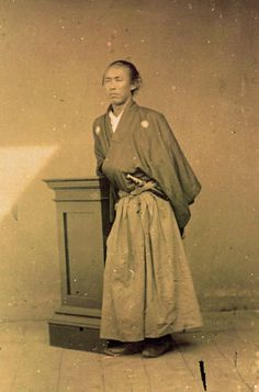 Master swordsman Sakamoto Ryōma (January 3, 1836 – December 10, 1867). Ryōma was a leader of the movement to overthrow the Tokugawa shogunate, because he envisioned a modernized Japan without any feudal trappings.
