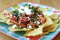Chicken Chilaquiles.  Not sure what this is, but looks yummy!