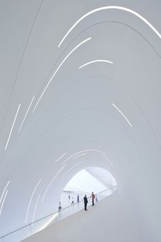 Tracing the Legacy of Zaha Hadid, Architecture's Esteemed Anomaly | Again, inside the Haydar Aliyev Center. | Credit: Iwan Baan/Zaha Hadid Architects | From Wired.com
