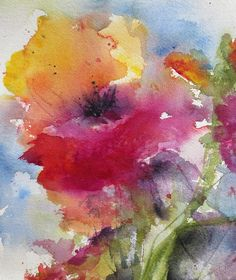Iceland Poppy Painting by Anne Duke