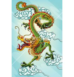 Chinese+dragon+painting+vector+792379+-+by+h4nk on VectorStock®