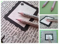 DIY Recyklace - tužky  Pencil, old paper Notebook, Diy, Bricolage, Do It Yourself, The Notebook, Homemade, Diys, Exercise Book, Crafting