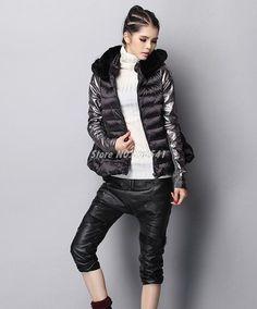 2015 Winter Jacket Women Luxury Style Winter Parkas Down Coat Ladies Real Rabbit Fur Collar Outerwear Down Jacket Free Shipping