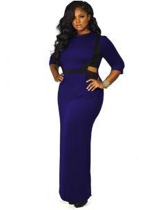 """Tracy"" Cutout Maxi Dress - Purple - Cocktail Dresses - Clothing - Monif C"