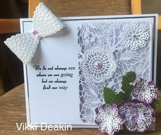 Tattered Lace Cards, Embossed Cards, Cardmaking, Pure Products, Towers, Tulip, Crochet, Inspiration, Biblical Inspiration