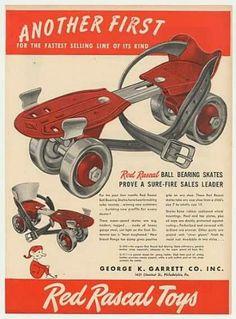 1958 Skates with steel wheels