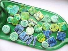 Polymer clay charms | Flickr - Photo Sharing! Alcohol inks?
