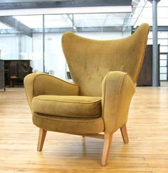 Attirant Danish Retro Armchair Wing Chair Mid Century Lounger Easy Vintage 1960/70s  Vintage Armchair,