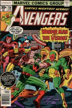 The Avengers #158 (1963 series) - cover by Jack Kirby (John Romita, alterations)