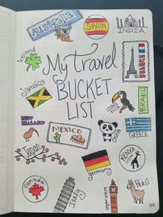 Simple Bullet Journal Ideas To Organize Your Ambitious Goals Well . - Simple Bullet Journal Ideas to Organize and Accelerate Your Ambitious Goals Well # ambi - Bullet Journal Travel, Bullet Journal 2019, Bullet Journal Notebook, Bullet Journal Ideas Pages, Bullet Journal Inspiration, Journal Pages, Travel Inspiration, Journal Quotes, Diary Quotes