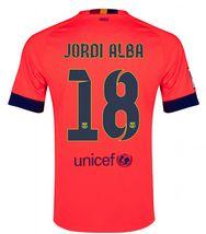 efb120b3c 14-15 Football Shirt Barcelona Jordi Alba  18 Cheap Away Pink Jersey  124