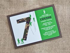 ARMY Camo Birthday Party Invitation  Camouflage by andersruff, $18.00