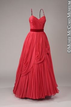 Jean Desses evening dress, ca. 1950, via Musee McCord Museum