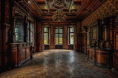 Mahogany by Miz Firestorm UE on Abandoned Mansions, Abandoned Places, Strange Places, Best Photographers, Amazing Architecture, Decoration, Most Beautiful, Fire Places, House Design