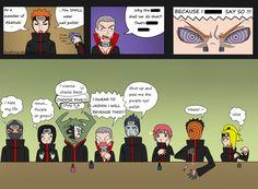Naruto Shipppuden, this is what happens when you give the akatsuki (let alone any man) nail polish. Naruto Akatsuki Funny, Funny Naruto Memes, Naruto Cute, Naruto Shippuden Anime, Anime Naruto, Funny Memes, Itachi, Sasori And Deidara, Reading Meme