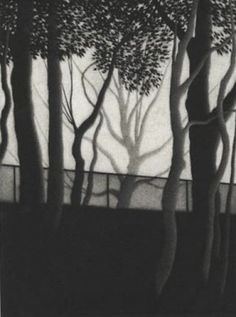 "Robert Kipniss was born in New York City in 1931 ~ ""To the reservoir"", 1995  ~  Mezzotint"