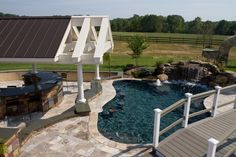 Photo Gallery :: Crystal Clear Signature Pools :: Cabanas, Kitchens, Ponds, Sports Courts, Landscaping & More :: Southampton, PA 18966