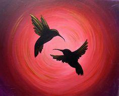 Hummingbirds Paint And Sip, Hummingbirds, Paintings, Celestial, Outdoor, Outdoors, Paint, Painting Art, Hummingbird
