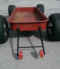 Custom Radio Flyer Wagon Wheelie Bars Flexible Flyer Hot Rod Rat Rod Pedal Car Does not apply   eBay