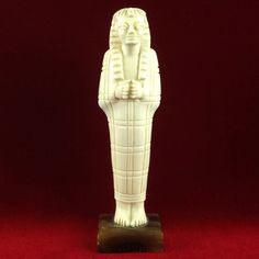 Vintage Hand Carved Egyptian Mummy Figurine CB714|We combine shipping|No Question Refunds|Bid $60 for free shipping. Starting at $1