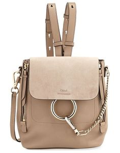 485d11aae835 Chloe Faye Small Leather suede Backpack